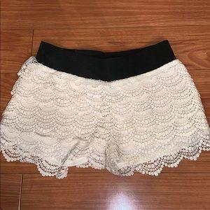Never Worn Wet Seal Crochet Shorts